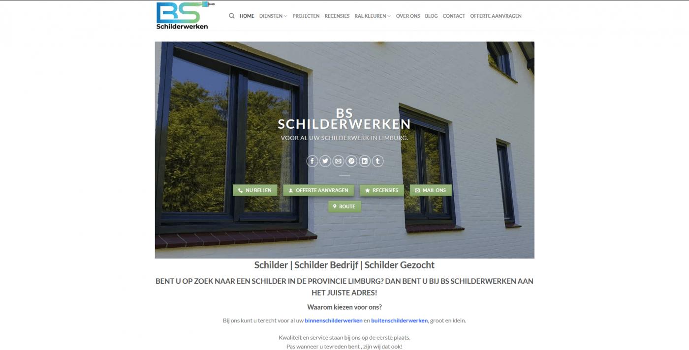Nieuwe Website | BS Schilderwerken | schilderwerk | schilder | Schildersbedrijf