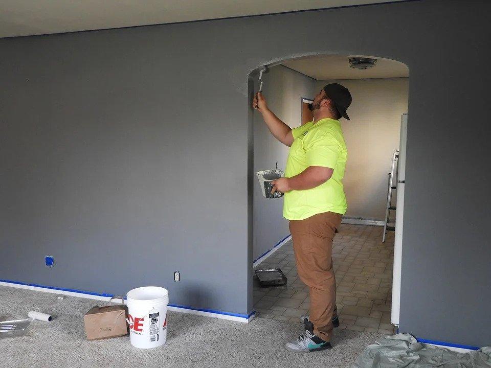 muur verven - muur schilderen - bsschilderwerken