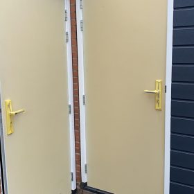 deur verven zonder strepen