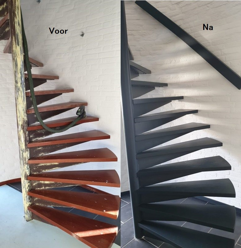 voor-na-schilderwerk trap verven