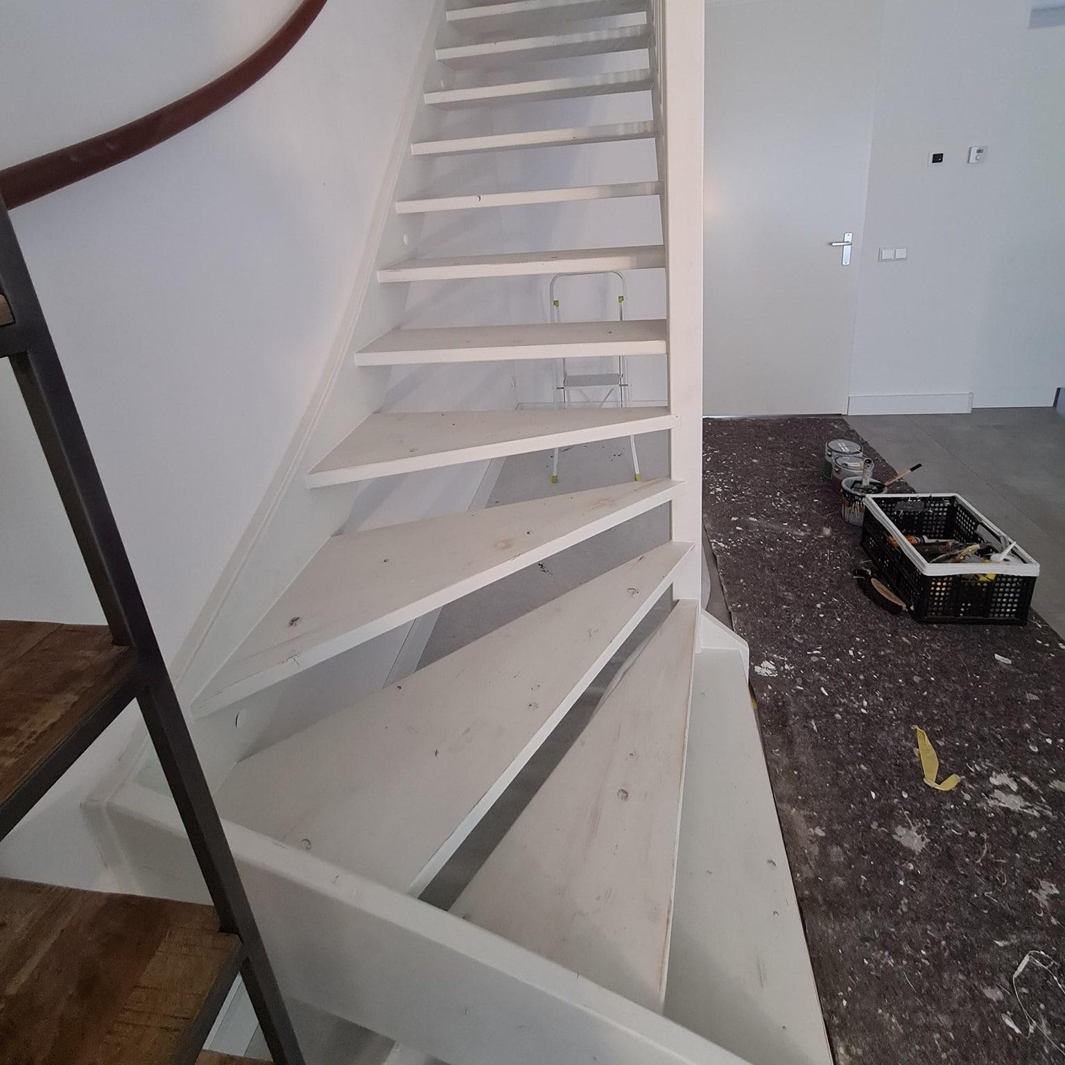 trap schilderen voorbereiding